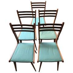 Set of Five Paolo Buffa Vintage Seats, circa 1960