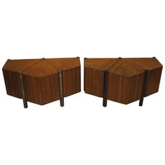 Two Low Tables by Jules Wabbes in Light Wood, 1968-1969