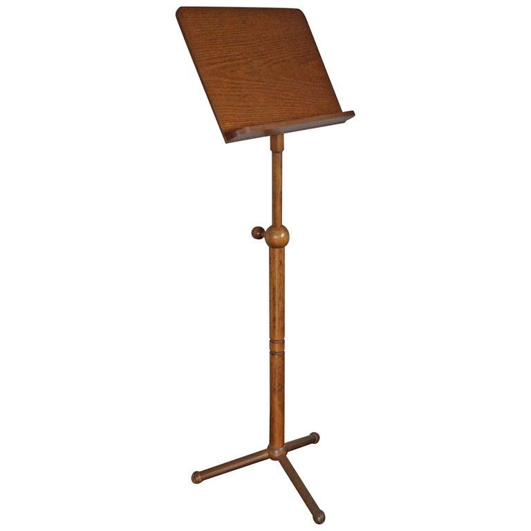 vintage and rare 1970s adjustable wooden tripod book or music stand at 1stdibs. Black Bedroom Furniture Sets. Home Design Ideas