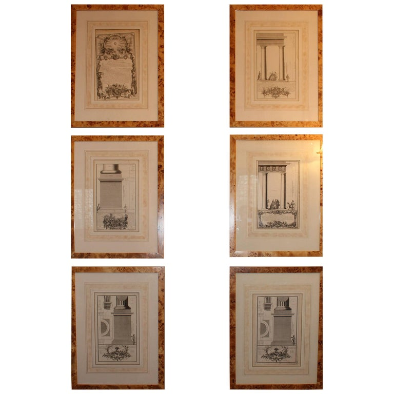 Rare Collection of 125 Architectural Engravings and Etchings, 18th Century