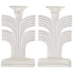 "Rene Lalique Pair of Candleholder ""Tokyo"""