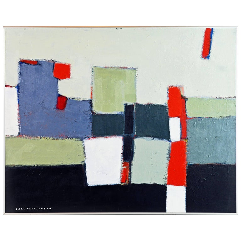 'The Docks' Contemporary Abstract by Lars Hegelund, American For Sale