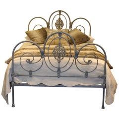 Double Grey and Gold Antique Bed MD59