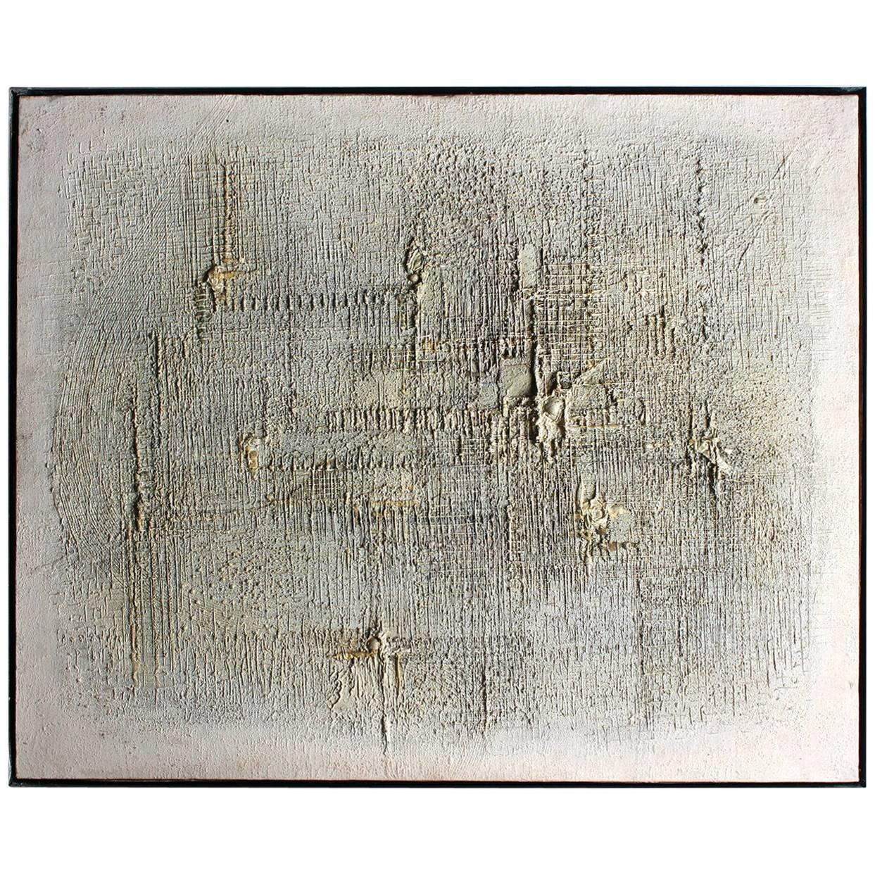 Z. Salaburski, Warszawa Abstract Oil Painting, 1962 Polish Modernist