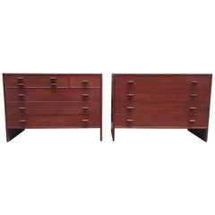 Pair of Hans Wegner for Ry Mobler Teak Cabinets