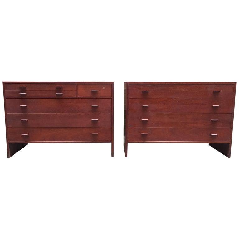 Pair of Hans Wegner for Ry Mobler Teak Cabinets