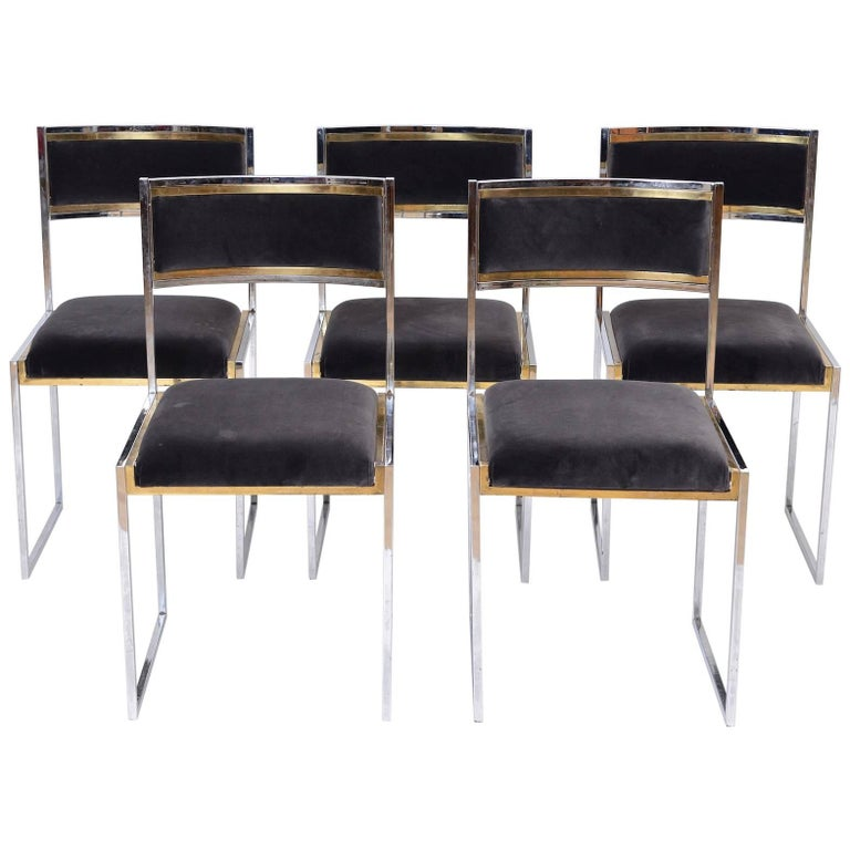 Set of Five Dining Chairs by Willy Rizzo