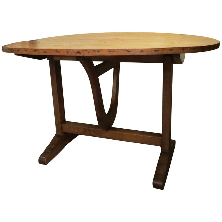 19th Century French Wine Tasting Table with Flip Top