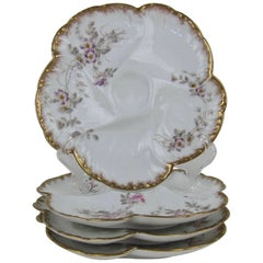 Antique Limoges Porcelain Oyster Plates, Gerard Dufraisseix and Morel CFH / GDM
