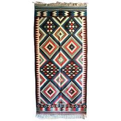 Swedish Flat-Weave Handwoven Carpet