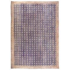 Oversized Vintage Indian Agra Carpet