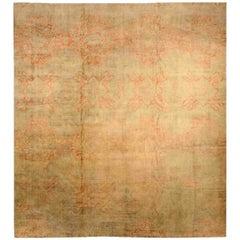 Antique Indian Cotton Agra Carpet