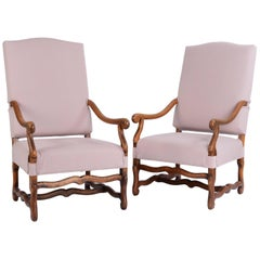 19th Century Pair of French Os de Mouton Armchairs