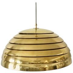 Large Brass Pendant Lamp by Vereinigte Werkstätten München in 1960s
