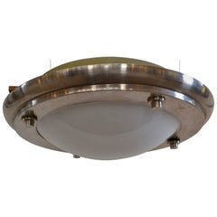 Michael Graves Designed Stainless Steel and Plexiglass Light Fixture