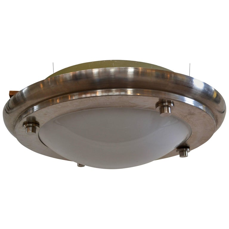 Michael Graves Designed Stainless Steel And Plexigl Light Fixture