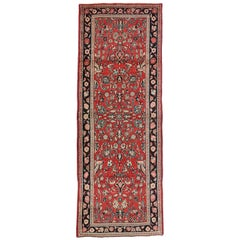 Vintage Persian Sarouk Runner with Traditional Style, Hallway Runner