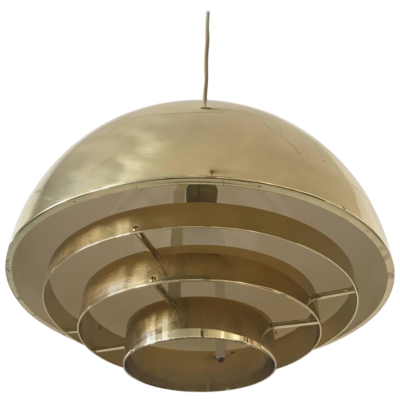 Brass Pendant Lamp Dome by Vereinigte Werkstätten München in 1960s