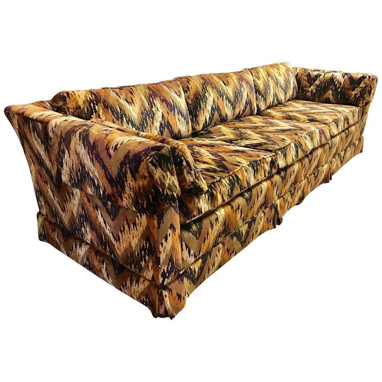Mid-Century Modern Sloane NY Jack Lenor Larsen Long Sofa