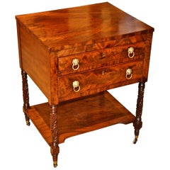 Period Boston Early 19th Century Federal Mahogany Side Table