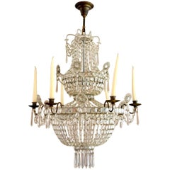 19th Century Swedish Neoclassical Chandelier Gustavian