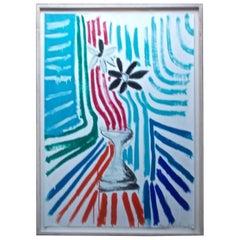 Menashe Kadishman Still Life Abstract Acrylic on Paper