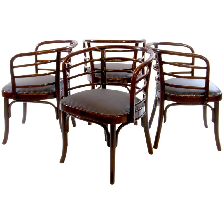 Set of Four Josef Frank Bentwod Dinner Armchairs for Thonet, 1930