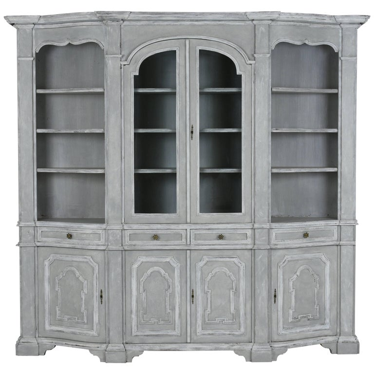 Italian Baroque Style Painted Bookcase