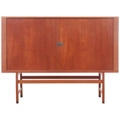 Mid-Century Modern Scandinavian High Cabinet in Teak Model President by Hans We