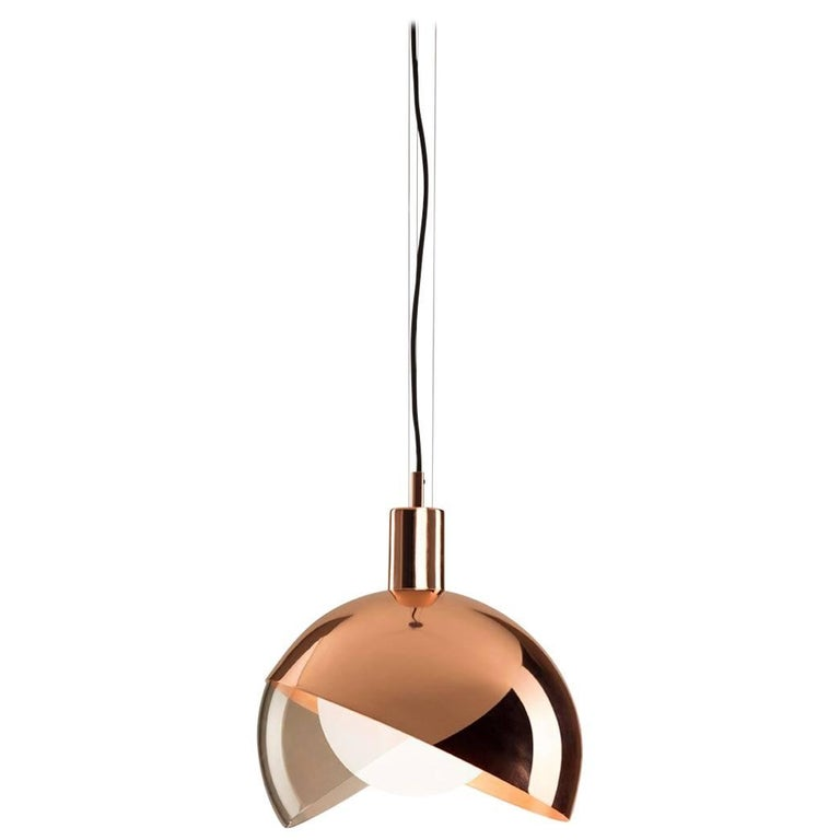 Calimero Large by Dan Yeffet, Contemporary Lamp Made of Blown Glass and Copper