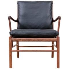 Mid-Century Modern Scandinavian Colonial Armchair in Walnut by Ole Wanscher
