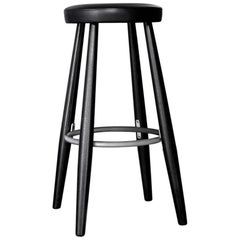 Mid-Century Modern Bar Stool CH 56 by Hans Wegner, New Edition