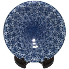 Hand-Painted Decorative Platter by Japanese Master Artist