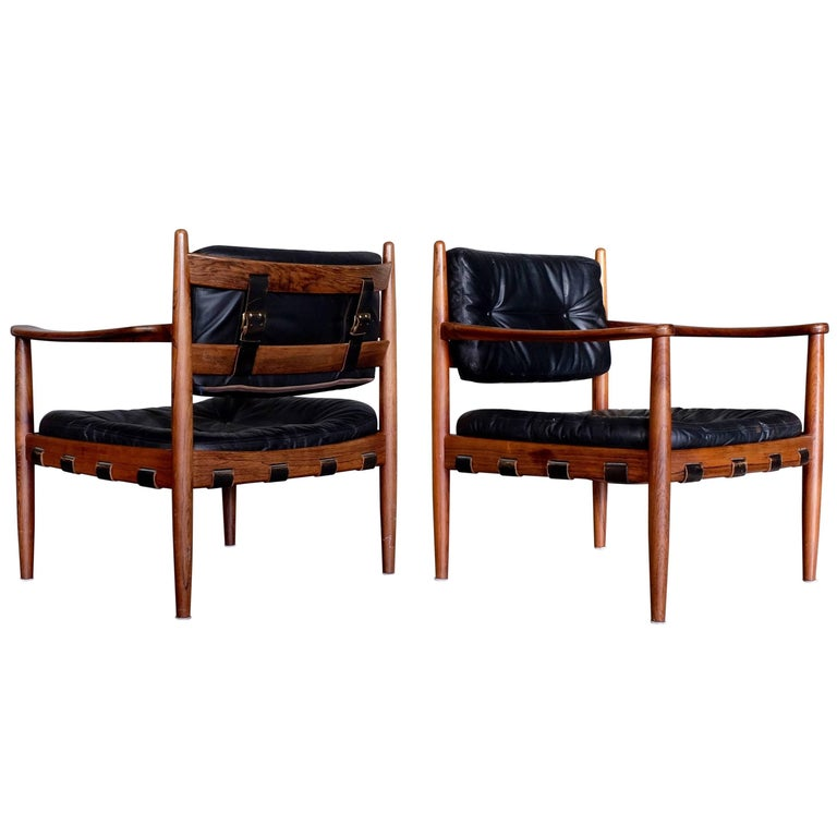 Pair of Cadett Easy Chairs by Eric Merthen, Sweden, 1960s For Sale