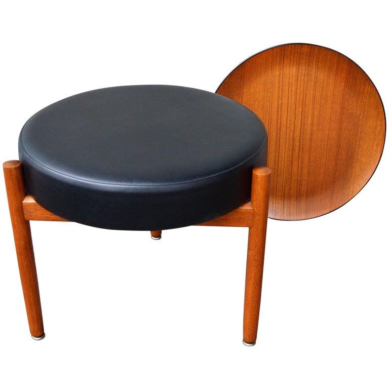Danish Teak Stool or Table by Hugo Frandsen for Spottrup For Sale