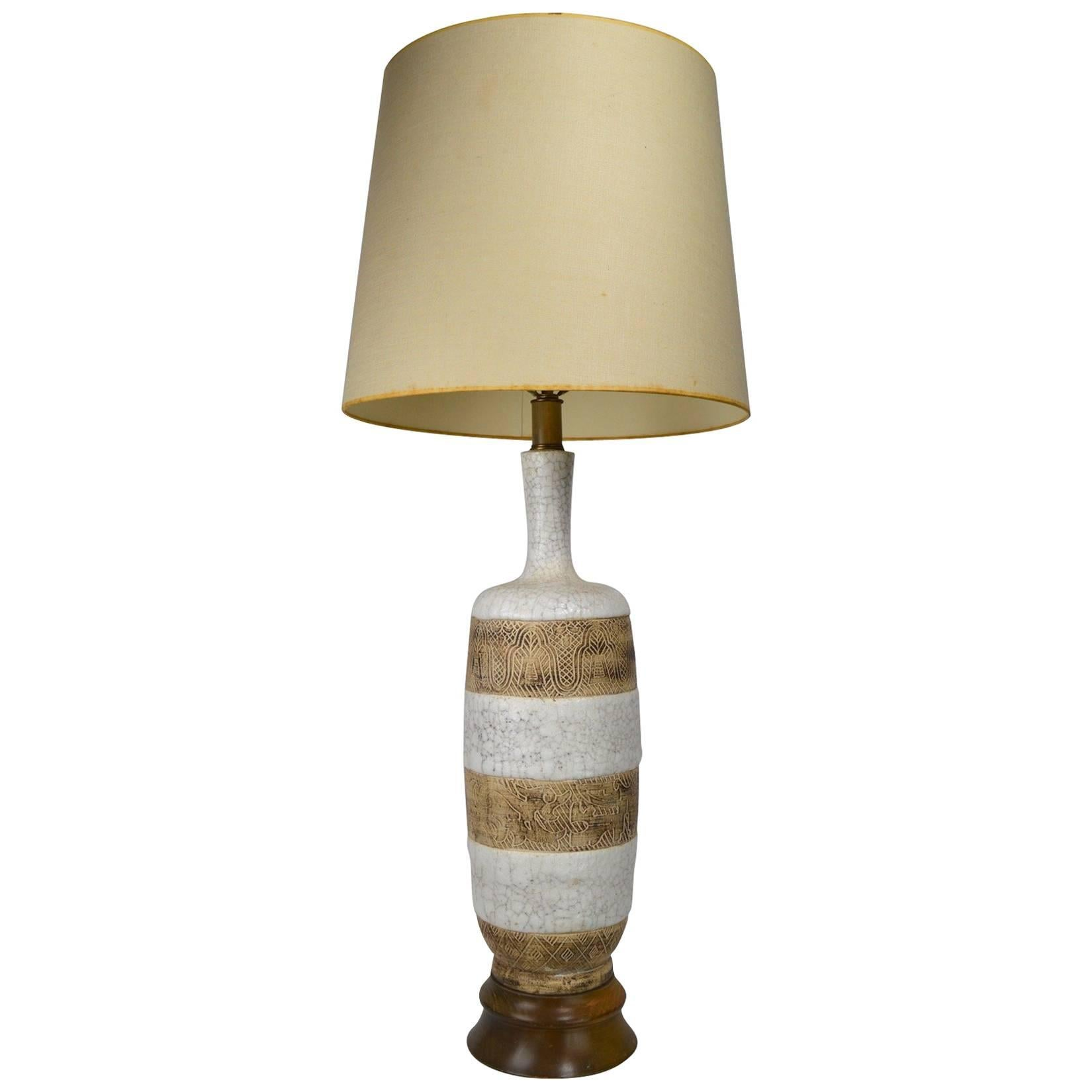 Italian Ceramic Lamp after Ugo Zaccagnini