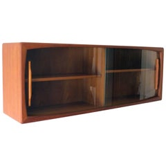 Mid-Century Modern Wall Unit by Dyrlund in Teak with Sliding Glass Door, 1960s