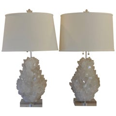 Pair of Rock Crystal Lamps