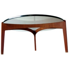 Danish Mid-Century Modern Coffee Table by Sven Ellekaer in Teak & Glass, 1960s