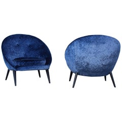 Jean Royère Style Modernist Lounge Chairs