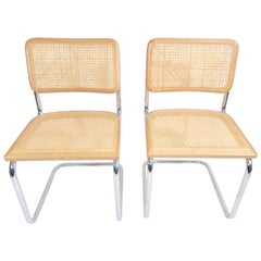 Pair of Marcel Breuer Cane Cesca Chairs
