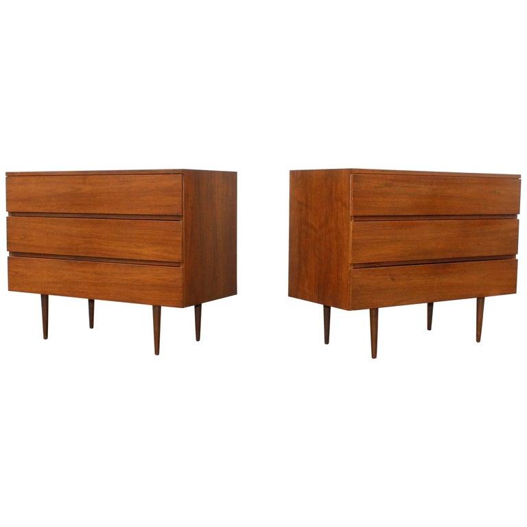 Mid-Century Modern Walnut Dressers