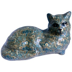 Signed and Numbered Pottery Cat