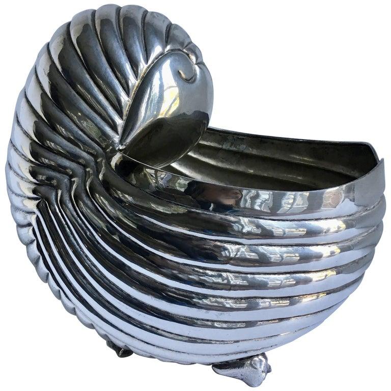 Silver Plate Shell Planter Centrepiece