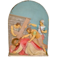 Composition Plaster Station of the Cross