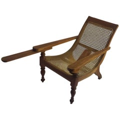 British Colonial Ceylonese Child's Planters Chair in Satinwood & Caning, c. 1900