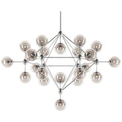 Heritage Chandelier, Contemporary Metallic Ceiling Lamp