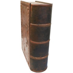 "19th Century Wooden Bible Box ""Forget Me Not"" with Secret Concealed Compartment"