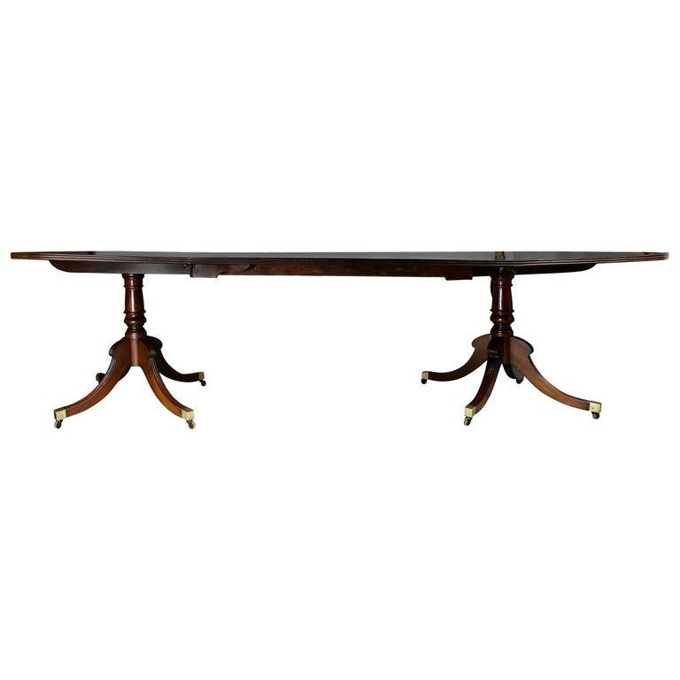 Regency Mahogany Two Pedestal Dining Table