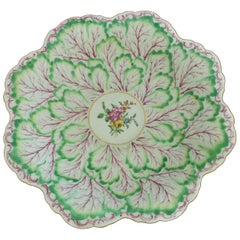 Large Swirling Leaf Dish, Worcester, circa 1762